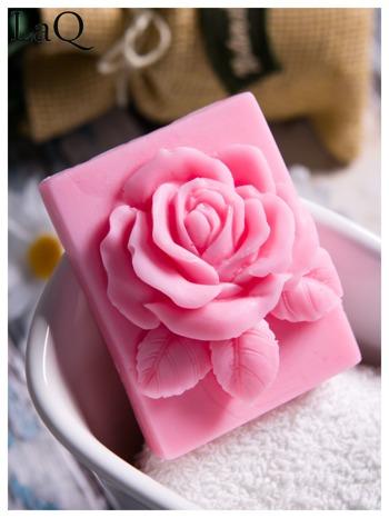 LaQ Mydełko Róża w prostokącie - różowy / Zapach - truskawka BEZ SLS i SLES                                  zdj.                                  2