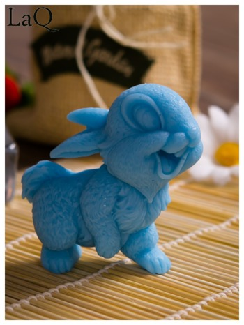 LaQ Mydełko Uśmiechnięty królik - niebieski / Zapach - wata cukrowa BEZ SLS i SLES                                  zdj.                                  5