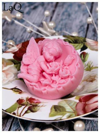 LaQ Mydełko duże Anioł z różami w medalionie - różowy / Zapach - truskawka BEZ SLS i SLES                                  zdj.                                  3