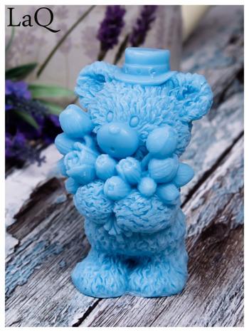 LaQ Mydełko duże Miś z bukietem - niebieski / Zapach - wata cukrowa BEZ SLS i SLES                                  zdj.                                  7