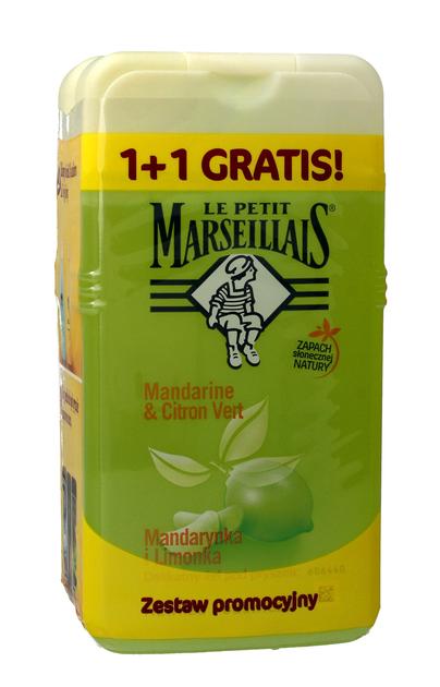 "Le Petit Marseillais Żel pod prysznic Mandarynka i Limonka 1+1 gratis (250mlx2)"""