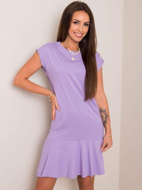 Liliowa sukienka Becky RUE PARIS