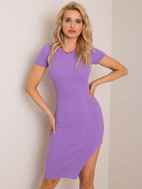 Liliowa sukienka Rebecca RUE PARIS