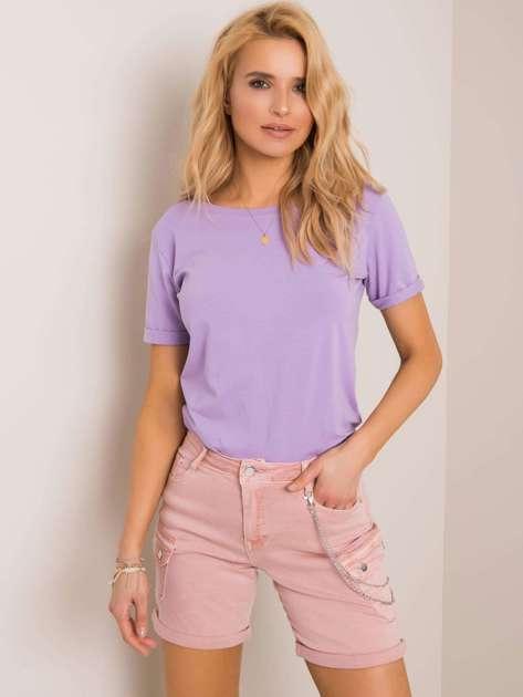 Liliowy t-shirt Lucie