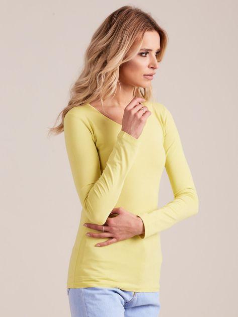 Limonkowa bluzka z długim rękawem                              zdj.                              3