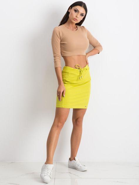 Limonkowa spódnica Increasingly                              zdj.                              4