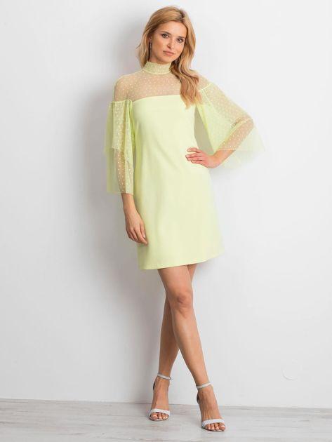 Limonkowa sukienka Modern                              zdj.                              4