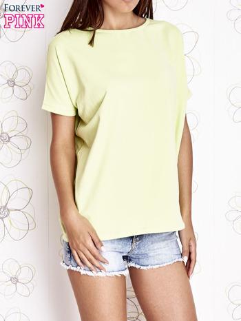 Limonkowy t-shirt oversize                                  zdj.                                  1