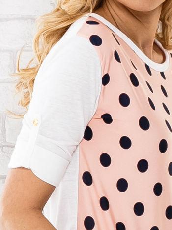 Łososiowa bluzka w groszki                                  zdj.                                  6