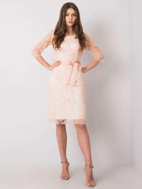 Łososiowa sukienka Genoa