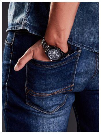 M&H -Klasyka i elegancja srebrny męski zegarek na bransolecie                                   zdj.                                  4