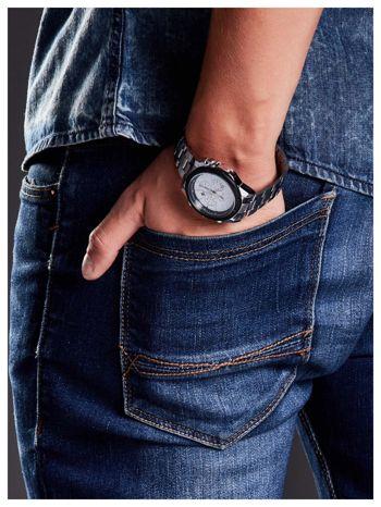 M&H -Klasyka i elegancja srebrny męski zegarek na bransolecie                                   zdj.                                  5