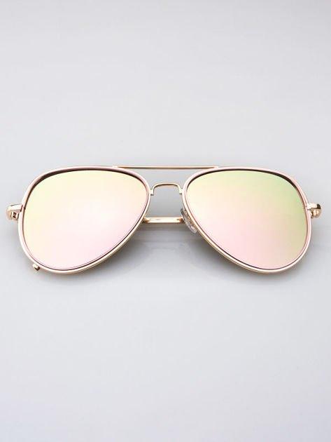 MANNINA Okulary lustrzanki przeciwsłoneczne + miękkie etui gratis                              zdj.                              2