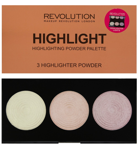 Makeup Revolution Highlight Paleta 3 rozświetlaczy 15 g