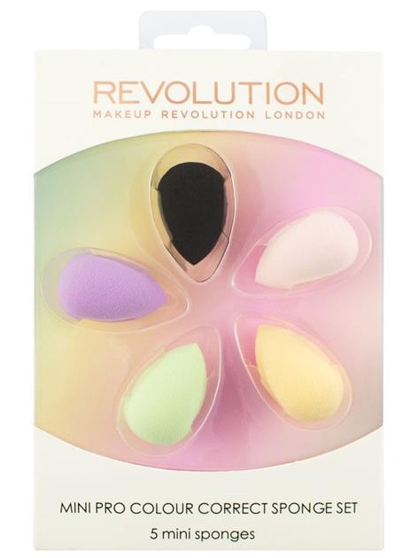 Makeup Revolution Mini Pro Colour Correct Sponge Set Zestaw mini gąbek do makijażu 5 szt.