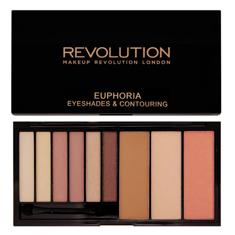 Makeup Revolution Palette Euphoria Bare Zestaw do makijażu oczu i twarzy