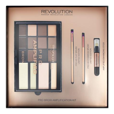 "Makeup Revolution  Pro Brow Amplification Kit Zestaw do makijażu brwi  1 op."""
