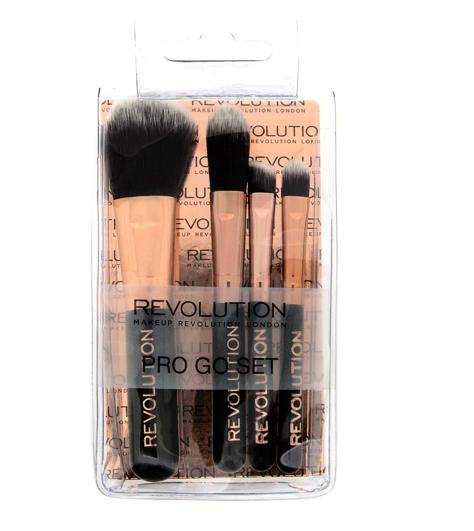 """Makeup Revolution Pro Go Set Zestaw mini pędzelków do makijażu  1op-4szt"""""""
