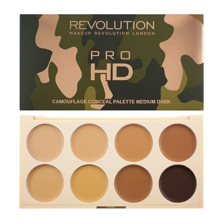 Makeup Revolution Pro HD Camouflage Palette Zestaw korektorów Medium Dark 10g