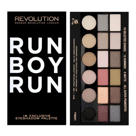 """Makeup Revolution Salvation Palette 18 Zestaw cieni do powiek Run Boy Run (18 kolorów) 13g"""""""