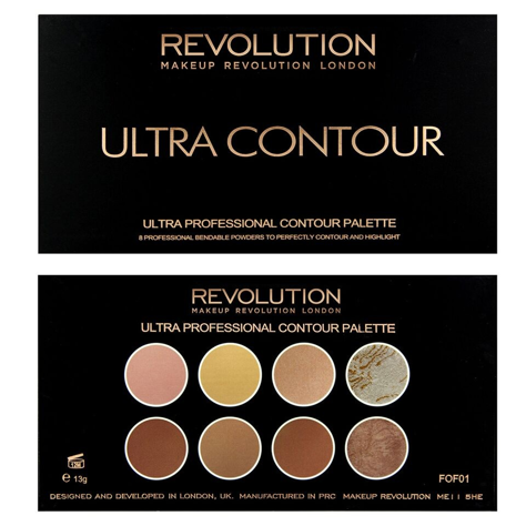 "Makeup Revolution Ultra Contour Palette Zestaw do modelowania twarzy 13g"""