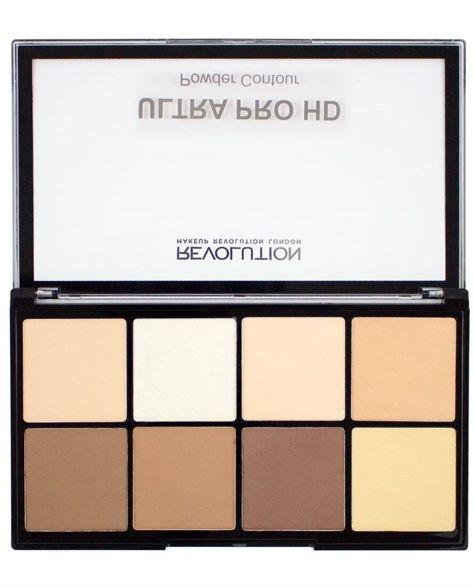 Makeup Revolution Ultra Pro HD Powder Contour Fair Zestaw pudrów do konturowania 20g