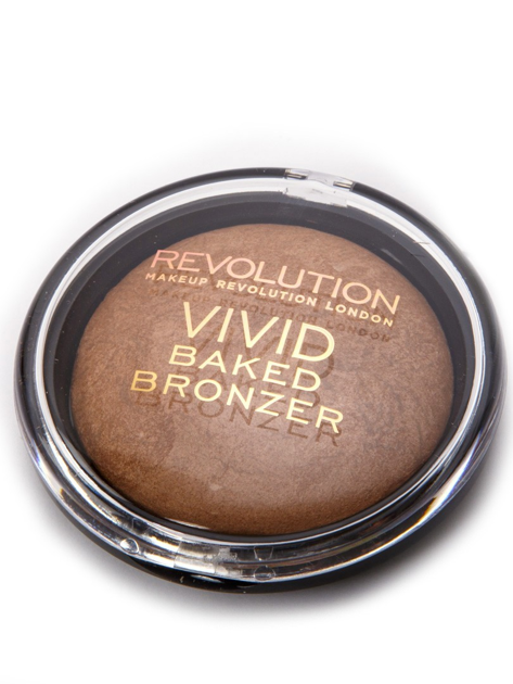 Makeup Revolution Vivid Baked Bronzer Puder brązujący wypiekany Golden Days 10g