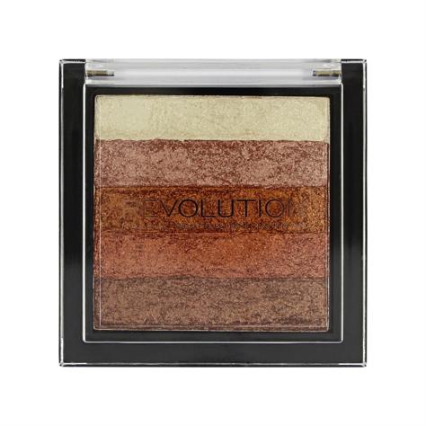 "Makeup Revolution Vivid Shimmer Brick - Rose Gold Paletka bronzerów i rozświetlaczy 7g"""