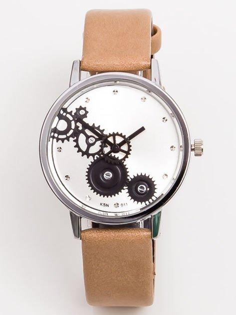 Mały Beżowy Zegarek Damski  RETRO