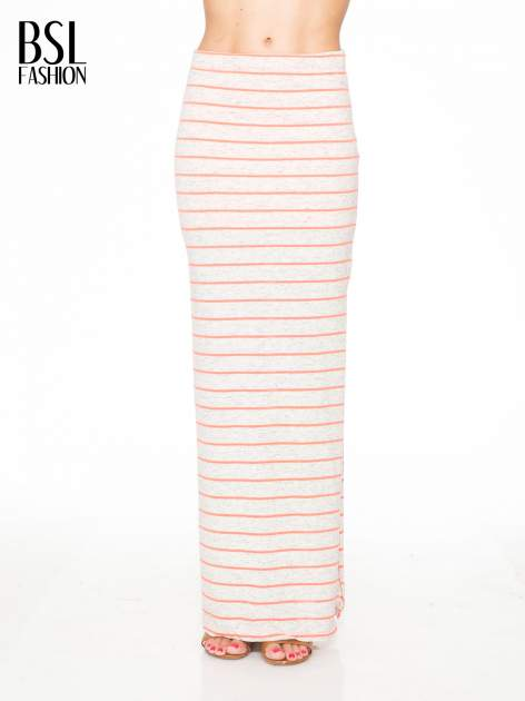 Melanżowa długa spódnica w paski