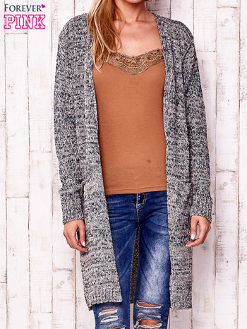 Melanżowy długi sweter z kieszeniami                                  zdj.                                  1