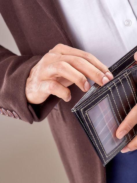 Męski portfel czarny ze skóry                              zdj.                              2