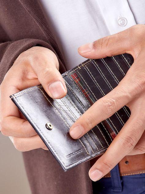 Męski portfel czarny ze skóry                              zdj.                              5