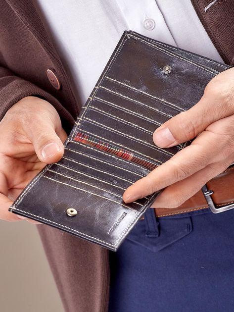 Męski portfel czarny ze skóry                              zdj.                              6