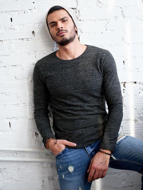 Męski sweter khaki                              zdj.                              5