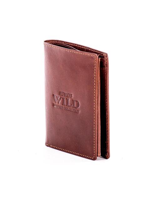 Miękki portfel ze skóry naturalnej brązowy                               zdj.                              3