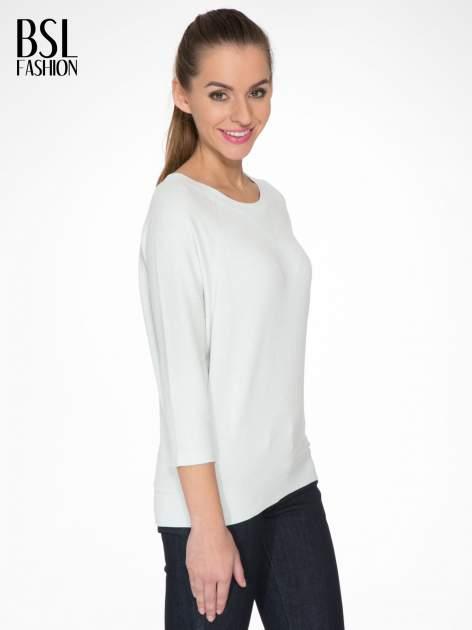 Miętowa bluza oversize z łączonych materiałów                                  zdj.                                  3