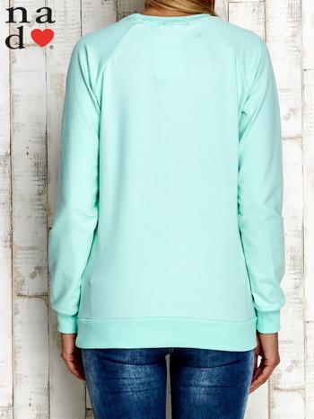 Miętowa bluza z cyfrą 27                                  zdj.                                  4