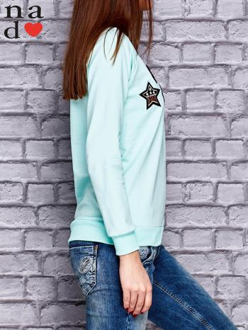 Miętowa bluza z naszywkami                                  zdj.                                  3