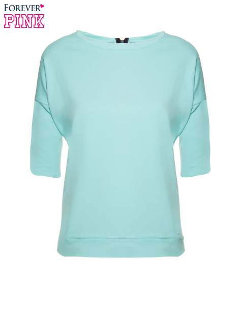 Miętowa bluza z suwakiem z tyłu                                  zdj.                                  2
