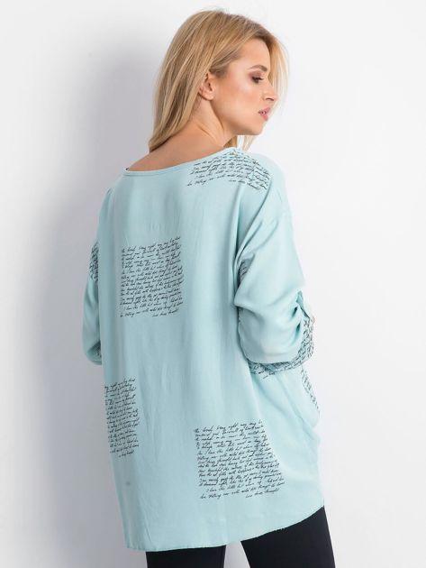 Miętowa bluzka Happines                              zdj.                              2