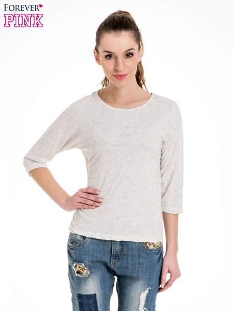 Miętowa melanżowa bluzka z rękawami 3/4                                  zdj.                                  1