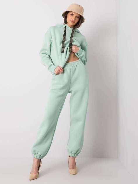 Miętowe spodnie dresowe Emani RUE PARIS