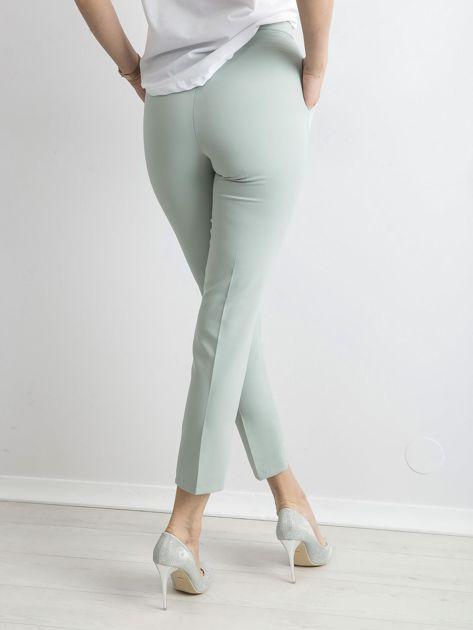 Miętowe spodnie z wiązaniem                               zdj.                              2