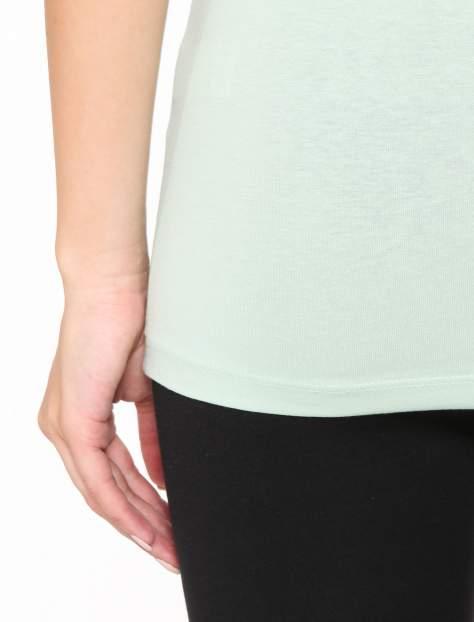 Miętowy gładki top na szerokich ramiączkach                                  zdj.                                  8