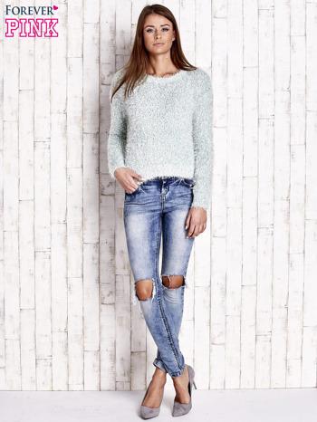Miętowy sweter fluffy                                  zdj.                                  2