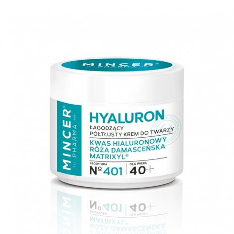 """Mincer Pharma Hyaluron Łagodzący Krem półtłusty do twarzy 40+ nr 401  50ml"""""""