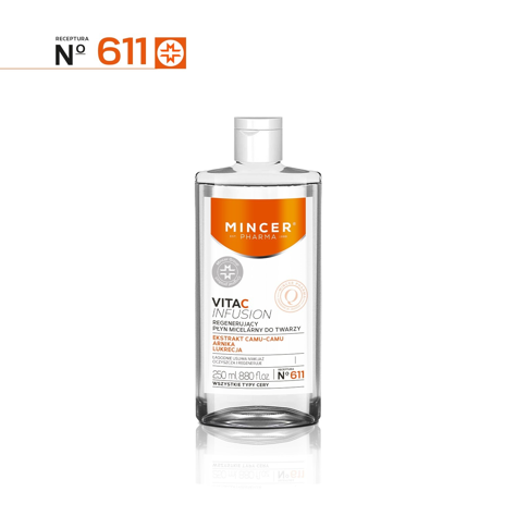 """Mincer Pharma Vita C Infusion Płyn micelarny regenerujący do twarzy nr 611   250ml"""""""