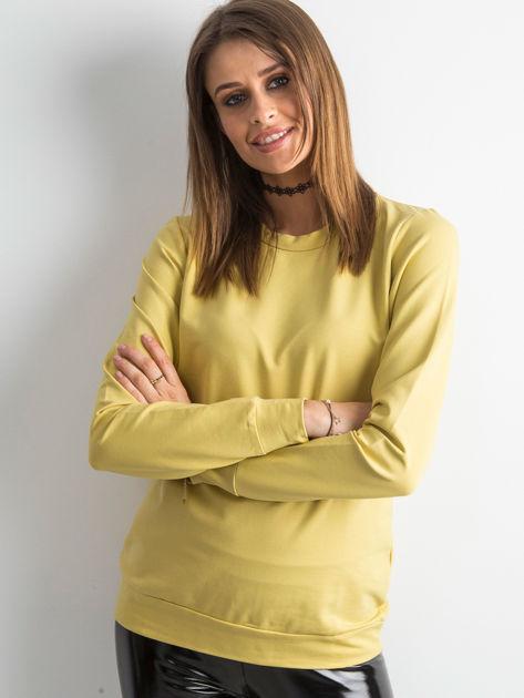 Miodowa bluza damska basic                              zdj.                              1