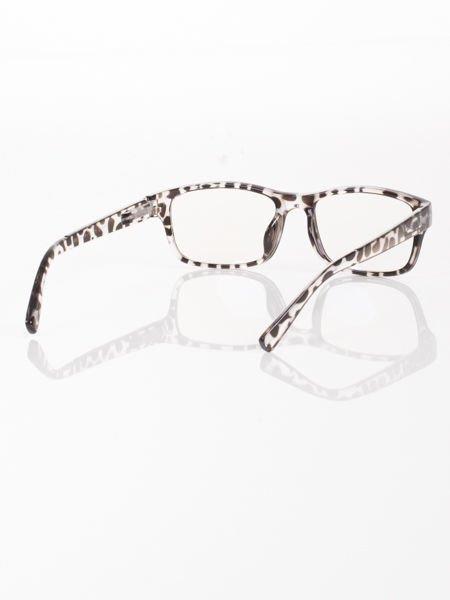 Modne okulary zerówki KUJONKI NERDY; soczewki ANTYREFLEKS+system FLEX na zausznikach                                  zdj.                                  3